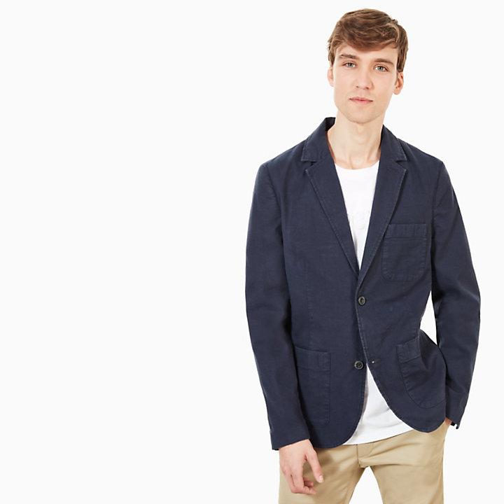 blazer coton mount adams pour homme en bleu marine. Black Bedroom Furniture Sets. Home Design Ideas