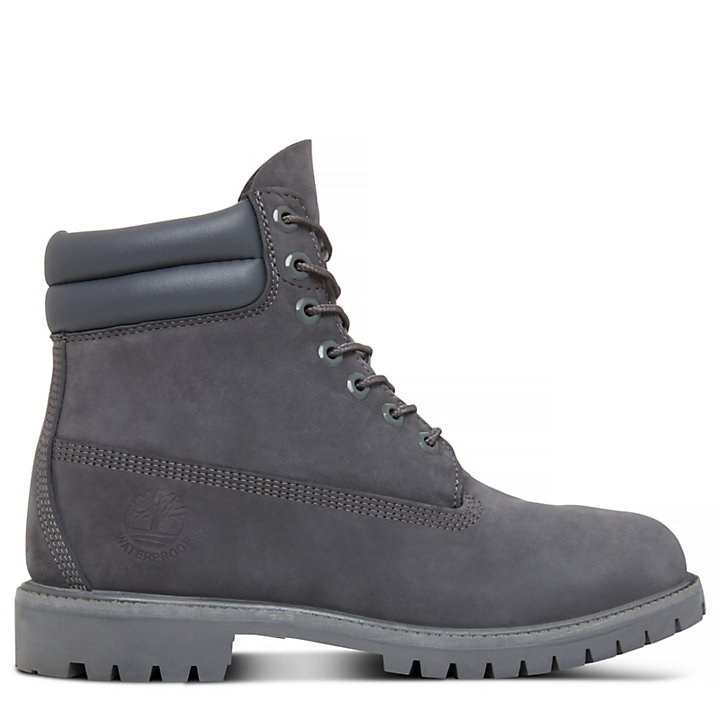Double Collar 6 Inch Boot for Men in Grey-