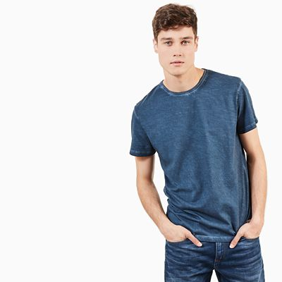Heritage+T-shirt+voor+Heren+in+Indigo
