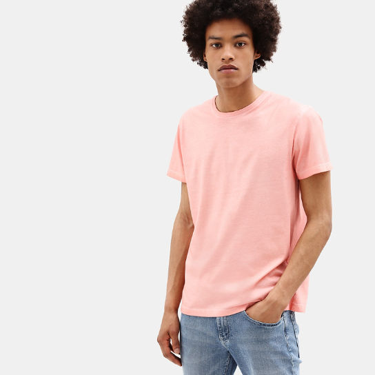 Heritage T-shirt for Men in Pink | Timberland