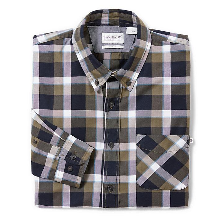 Souhegan River Shirt for Men in Blue/Green-