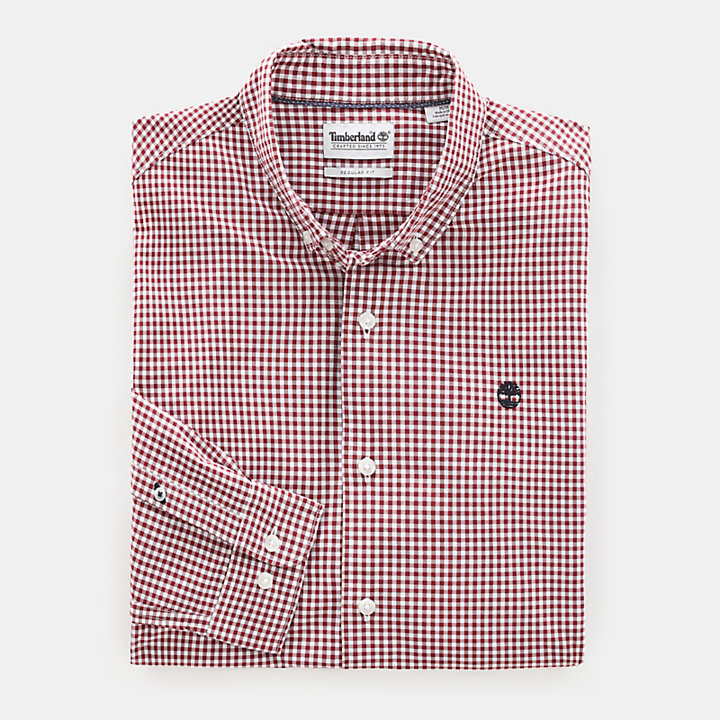 Suncook River Shirt for Men in Red-