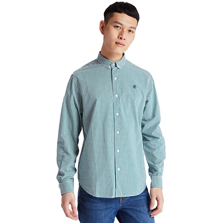 Suncook River Gingham Shirt for Men in Green-
