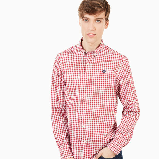 Suncook River Macro Gingham Shirt for Men in Red | Timberland