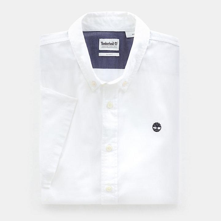 Camicia da Uomo a Maniche Corte Milford in bianco-