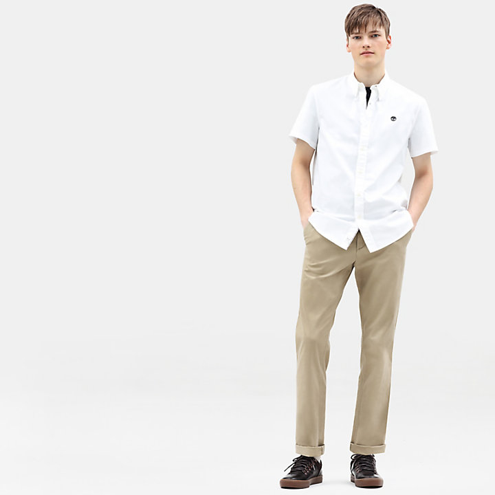 Camisa de Manga Corta Milford para Hombre en blanco-