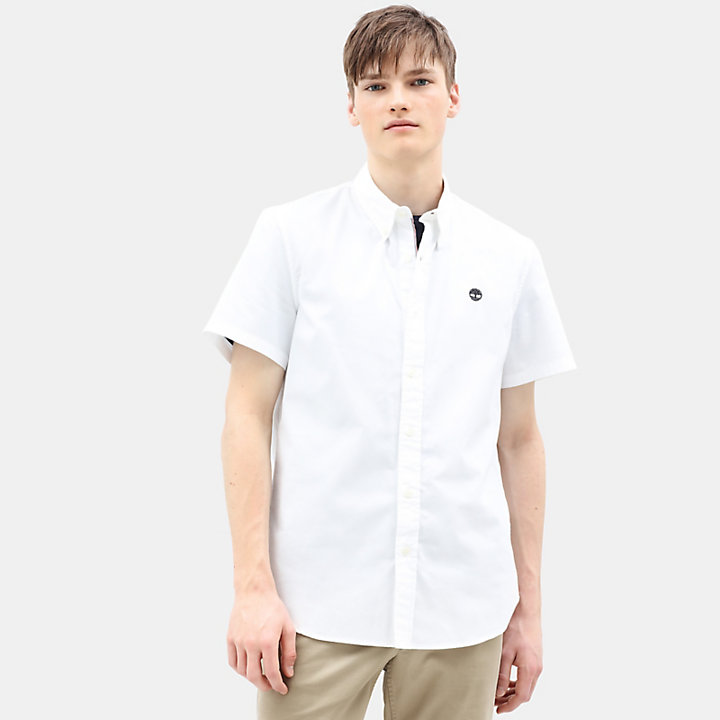 Milford Short Sleeve Shirt for Men in White-