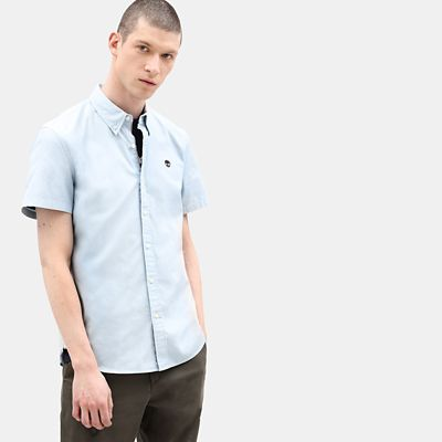 Milford+Short+Sleeve+Shirt+for+Men+in+Light+Blue