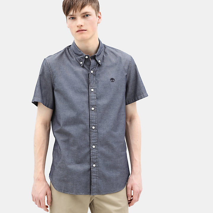Milford Short Sleeve Shirt for Men in Navy-