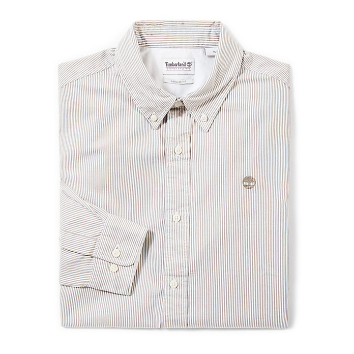 Wellfleet Striped Shirt for Men in Greige-
