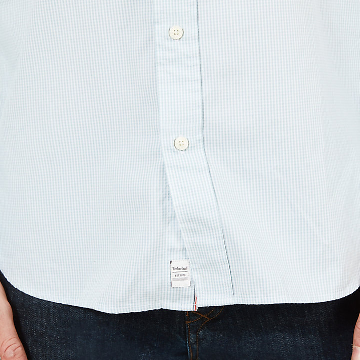 Milford Checked Oxford Shirt for Men in Blue-