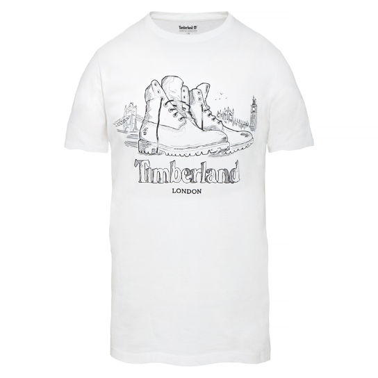 Dunstan River London T-shirt Homme blanc | Timberland