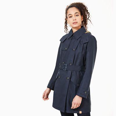 Trench Coat Pour Femme En Bleu Marine