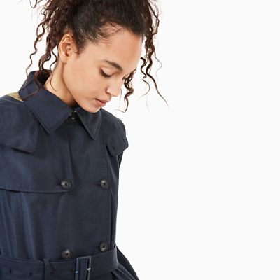 Trenchcoat+f%C3%BCr+Damen+in+Marineblau