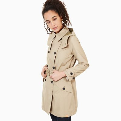 Trenchcoat+voor+Dames+in+Beige