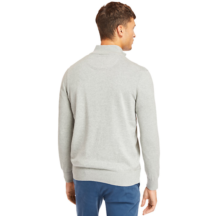 Williams River Zip Sweater voor Heren in Grijs-