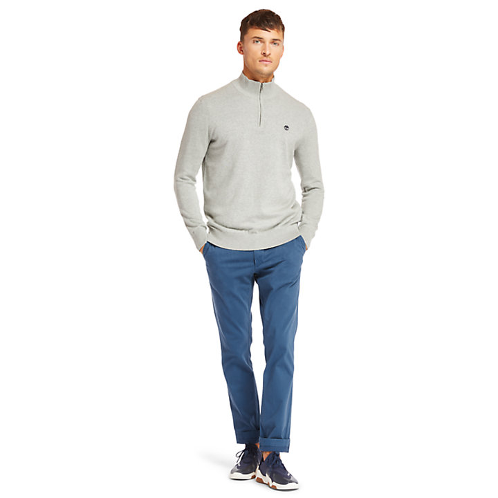 Williams River Half Zip Sweater voor Heren in grijs-