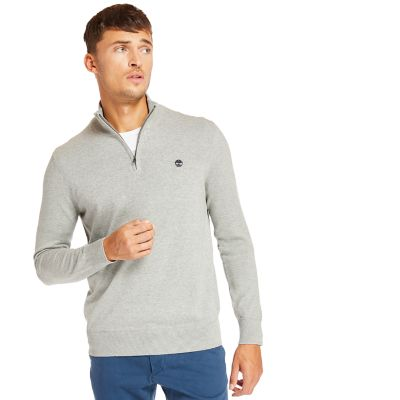 Williams+River+Half+Zip+Sweater+for+Men+in+Grey