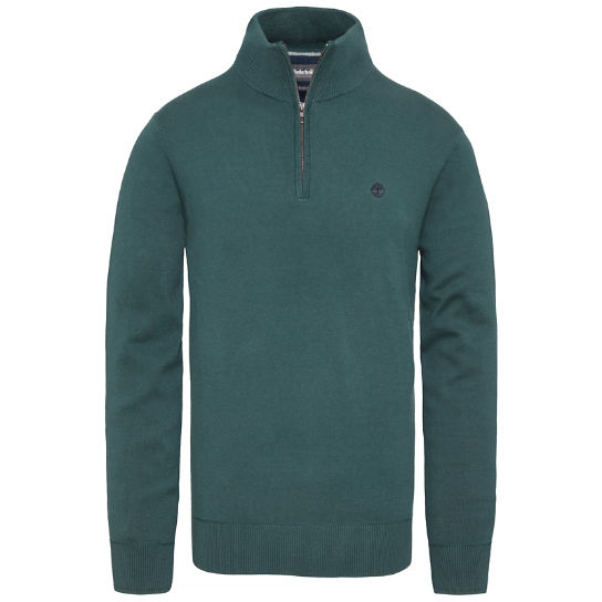 Williams River Half Zip Top Homme vert | Timberland