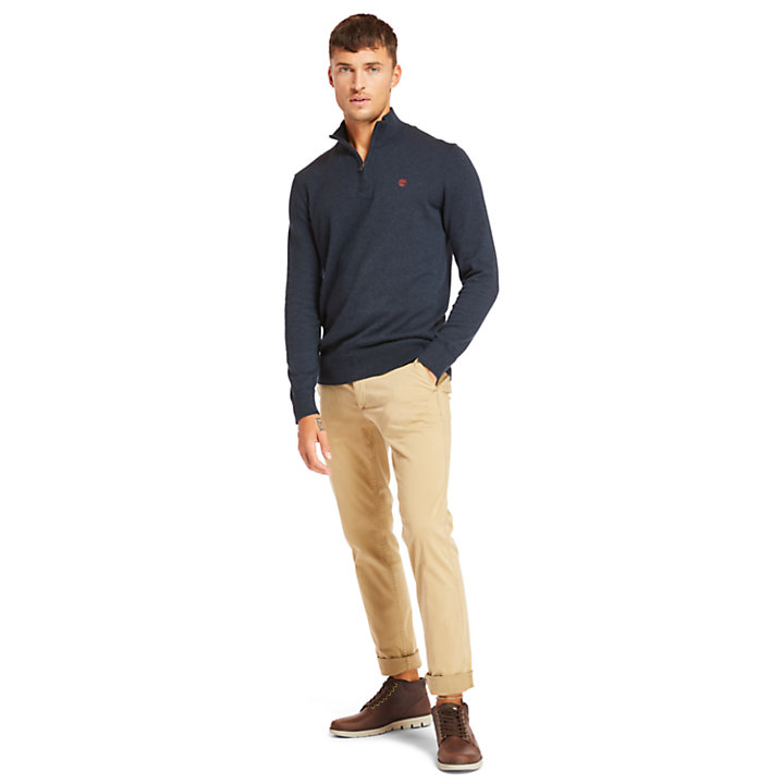 Williams River Half Zip Herrenpullover in Navyblau-