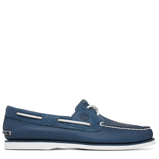 Men's 2-Eye Boat Shoe Navy | Timberland