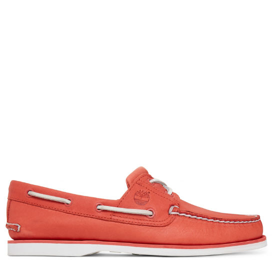 Men's 2-Eye Boat Shoe Orange | Timberland
