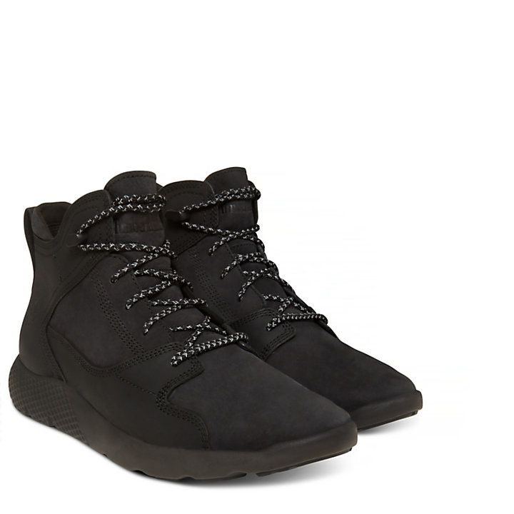 Flyroam Leather Sneakerboot Homme noir-