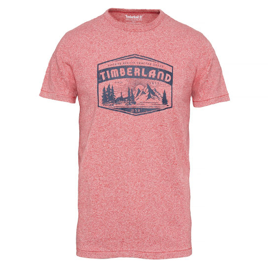 Kennebec River Logo T-Shirt Homme rouge | Timberland