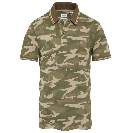 Millers River Camo Polo Shirt verde oliva hombre | Timberland