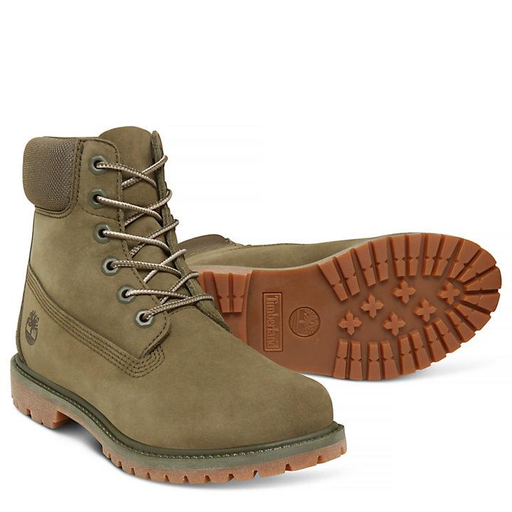 6-inch Boot Femme Vert-