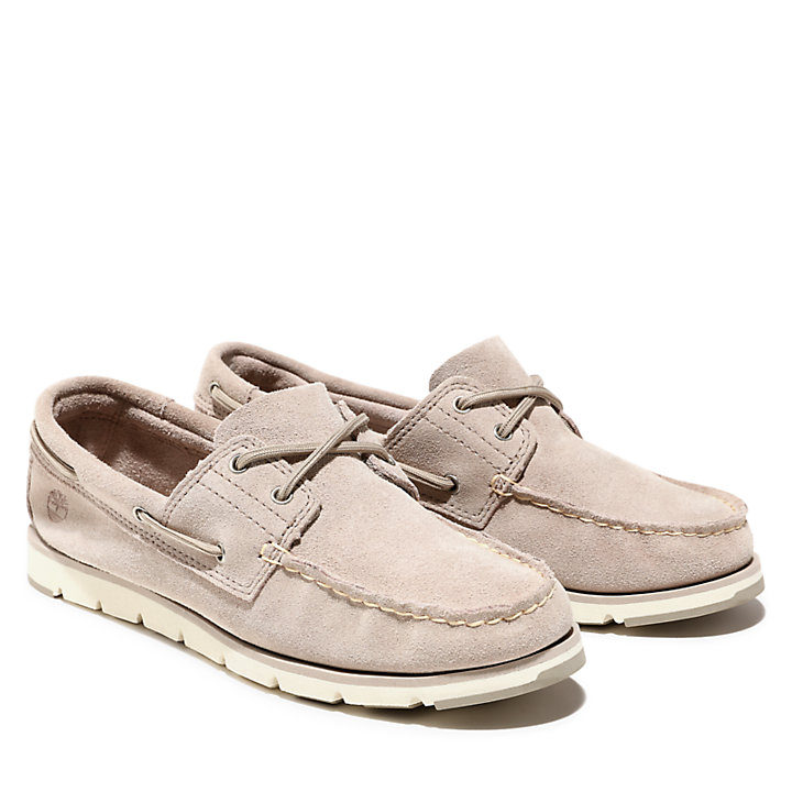 Camden Falls Boat Shoe for Women in Beige-