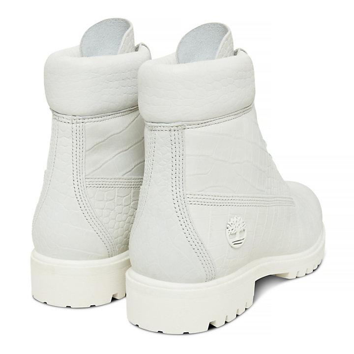 Herren 6-Inch Boot Weiß in Reptiloptik-