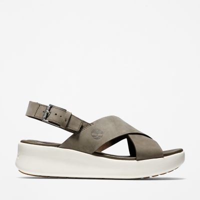 Los+Angeles+Wind+Slingback+voor+Dames+in+Grijs-beige