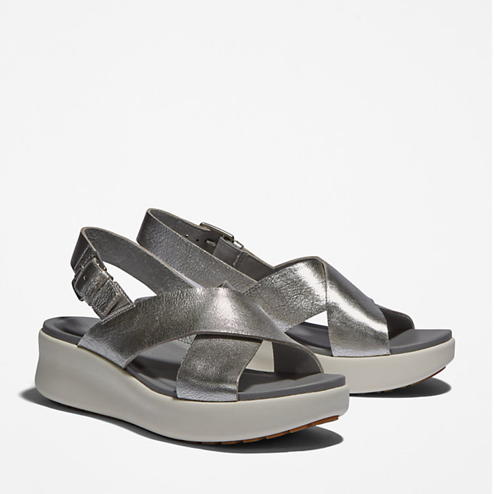 Los Angeles Wind Slingback for Women in Silver-