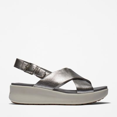 Los+Angeles+Wind+Slingback+for+Women+in+Silver