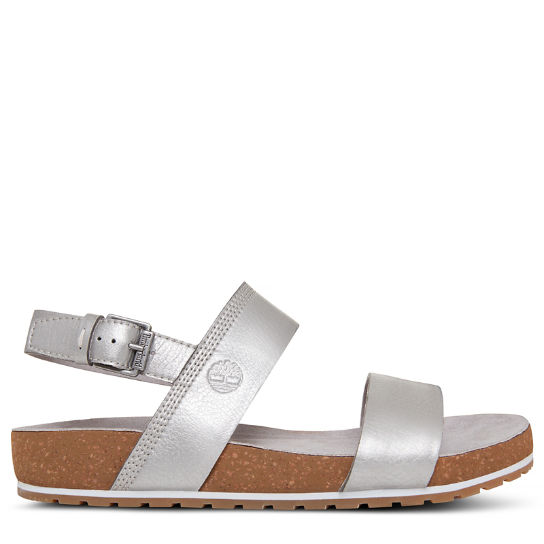 Damen Malibu Waves Two Strap Sandal Silber | Timberland