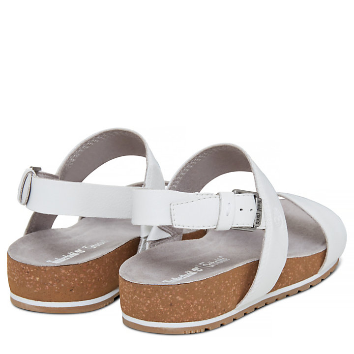Women's Malibu Waves Two Strap Sandal White-