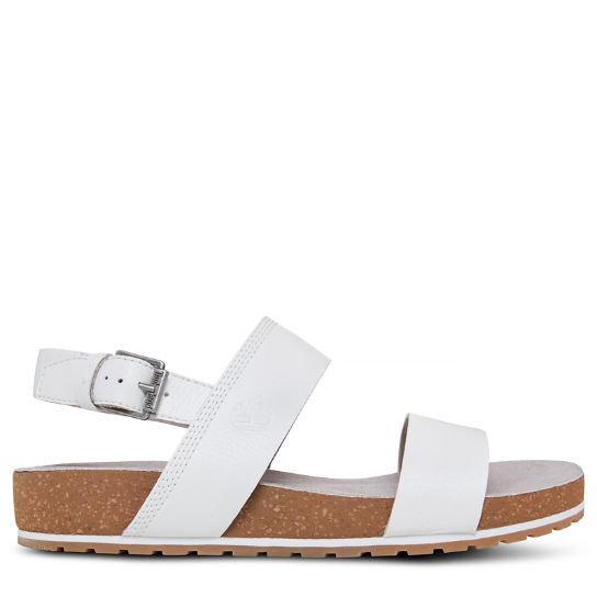Malibu Waves Two Strap Sandal Blanco Mujer | Timberland