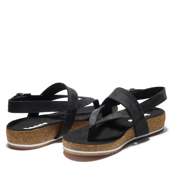 Malibu Waves Thong Sandal for Women in Black-