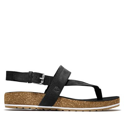 Malibu+Waves+Thong+Sandal+for+Women+in+Black