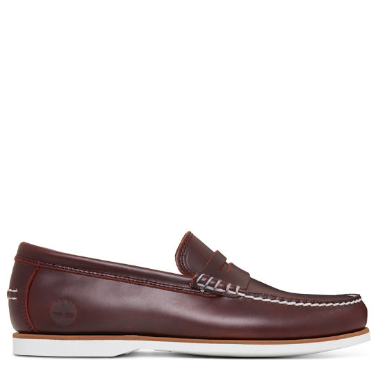 Men's Classic Boat Penny Loafer Burgundy | Timberland