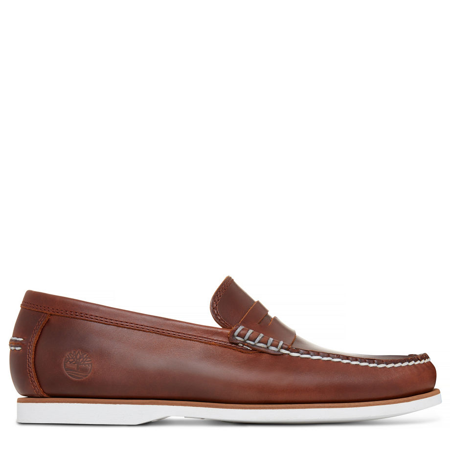 Timberland Men s Classic Boat Penny Loafer Brown Brown 0650607e3