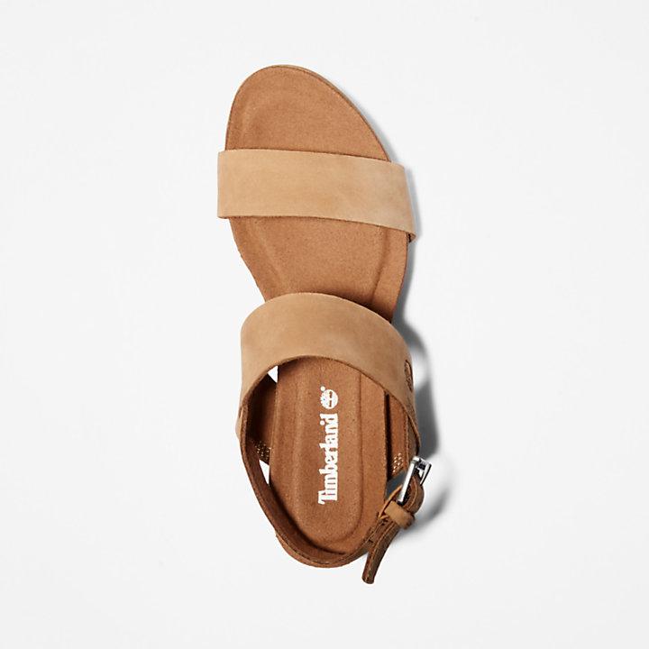 Sandale Compensées Clair Sunset Pour Capri Femme En Marron 4AR5jL