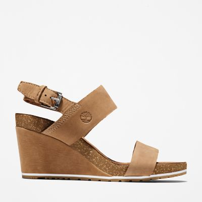 Capri+Sunset+Wedge+Sandal+for+Women+in+Light+Brown