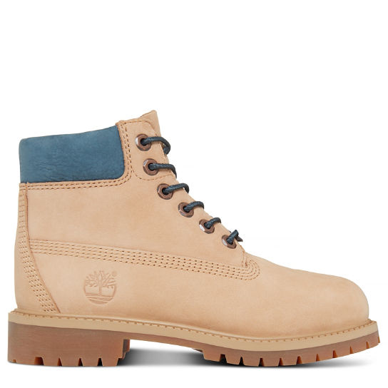 Kinder 6-Inch Waterproof Boot Beige | Timberland