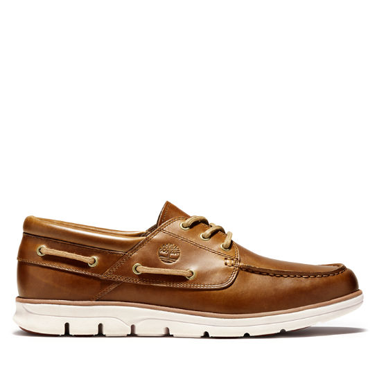 Men's Bradstreet 3-Eye Boat Shoe Brown | Timberland