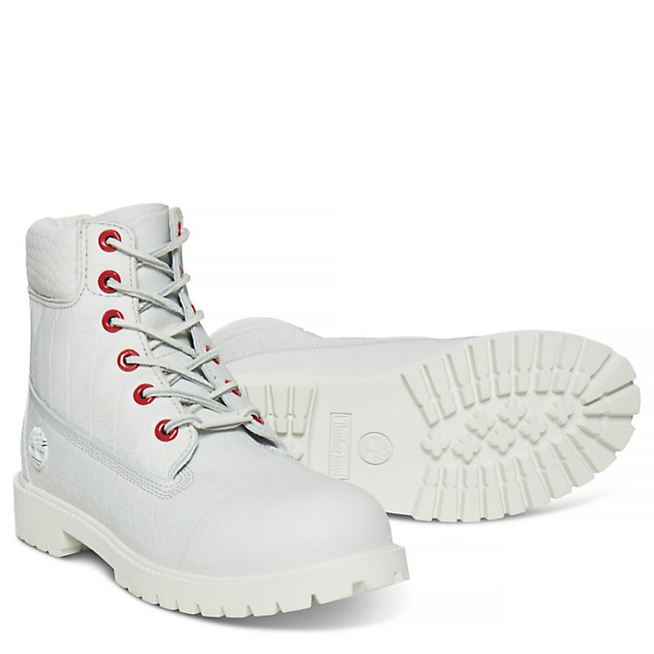 Junior 6-inch Boot White Cardinal Reptile-