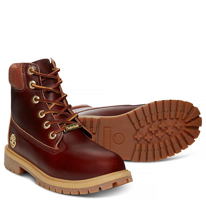 Junior 6-Inch Boot Dunkelbraun Reptil-