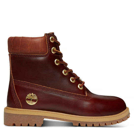 6-inch Boot Junior Marron foncé reptile | Timberland