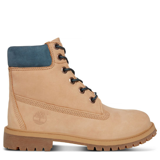 Junior 6-inch Waterproof Boot Beige | Timberland